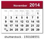 November 2014 Calendar. Vector...