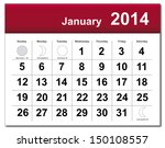 January 2014 Calendar. Vector...
