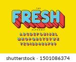 vector of stylized modern font... | Shutterstock .eps vector #1501086374