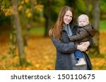 young mother and her cute... | Shutterstock . vector #150110675