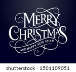 merry christmas vector text... | Shutterstock .eps vector #1501109051