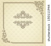 vintage frame with retro... | Shutterstock . vector #150111944