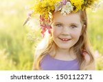 happy smiling 3 years old girl... | Shutterstock . vector #150112271