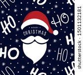 ho ho ho santa claus laugh hat... | Shutterstock .eps vector #1501132181