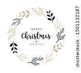 merry christmas greeting text... | Shutterstock .eps vector #1501132187