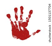 hand paint print  isolated... | Shutterstock .eps vector #1501137704