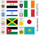 world flags of iraq  ireland ... | Shutterstock . vector #150113771