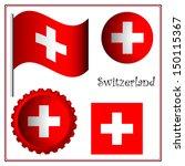 switzerland graphic set against ... | Shutterstock . vector #150115367