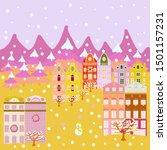 unusual christmas illustration... | Shutterstock .eps vector #1501157231