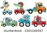 vector set of sport car with...   Shutterstock .eps vector #1501160567