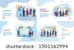 set advertising poster e... | Shutterstock .eps vector #1501162994