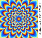 Pulsing Blue Flower. Optical...