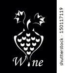 elegance wine symbol | Shutterstock . vector #150117119