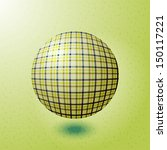 ball with the texture of fabric | Shutterstock .eps vector #150117221