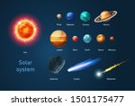 solar system with sun  planets...   Shutterstock .eps vector #1501175477