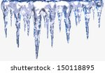 Icicles Isolated With Clipping...