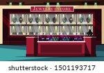 jewelry store showcase flat...   Shutterstock .eps vector #1501193717
