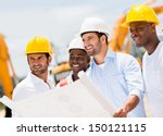 engineers working on a building ...   Shutterstock . vector #150121115