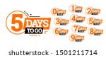 countdown left days banner.... | Shutterstock .eps vector #1501211714