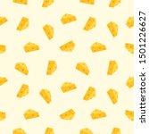 Seamless Cheese Icon. Cheese...