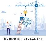 new creative idea  brain... | Shutterstock .eps vector #1501227644