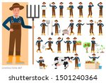 Set Of Farmer Character Vector...