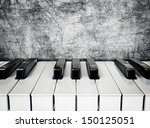 Black And White Piano Keys On A ...