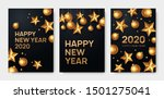 happy new year 2020 greeting... | Shutterstock .eps vector #1501275041