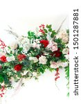 assorted flowers and green... | Shutterstock . vector #1501287881