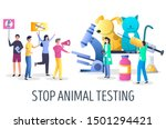 Stop Animal Research  Vector...