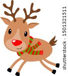 Xmas Reindeer With Red And...