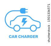 electric vehicle power charging ... | Shutterstock .eps vector #1501336571