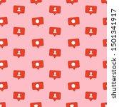 love hearts pattern. like ... | Shutterstock .eps vector #1501341917