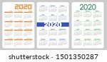 set vertical pocket calendar ... | Shutterstock .eps vector #1501350287
