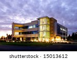 an office building with a empty ... | Shutterstock . vector #15013612