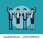 business manager team... | Shutterstock .eps vector #1501398341