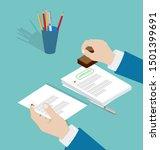 vector of a businessman hand... | Shutterstock .eps vector #1501399691