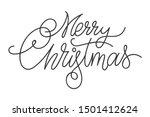 merry christmas hand drawn... | Shutterstock .eps vector #1501412624