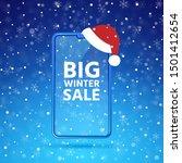 winter big sale smartphone...   Shutterstock .eps vector #1501412654