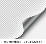 page curl with shadow on blank...   Shutterstock .eps vector #1501422554