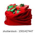 Santa Claus Red Bag Full Of...