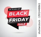 upto 50  offer for black friday ... | Shutterstock .eps vector #1501448861