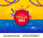 happy diwali sale banner or... | Shutterstock .eps vector #1501450067