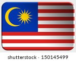 malaysia 3d button on white... | Shutterstock . vector #150145499