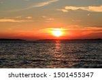 Orange Sundown In Fazana With...