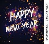 bokeh sparkle new yaear 2020...   Shutterstock .eps vector #1501457564
