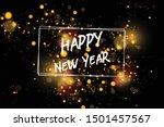 bokeh sparkle new yaear 2020...   Shutterstock .eps vector #1501457567
