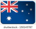 australia 3d button on white... | Shutterstock . vector #150145787