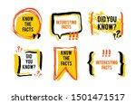 Interesting Facts Speech Bubble ...