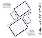 mockup devices  smartphones ... | Shutterstock .eps vector #1501473461